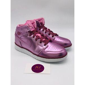 Jordan 1 Mid Pink Rise AV5174-640 Size 4.5Y/6 W